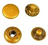 バネホック 50セット 12mm アンティーク (12mm, アンティーク)