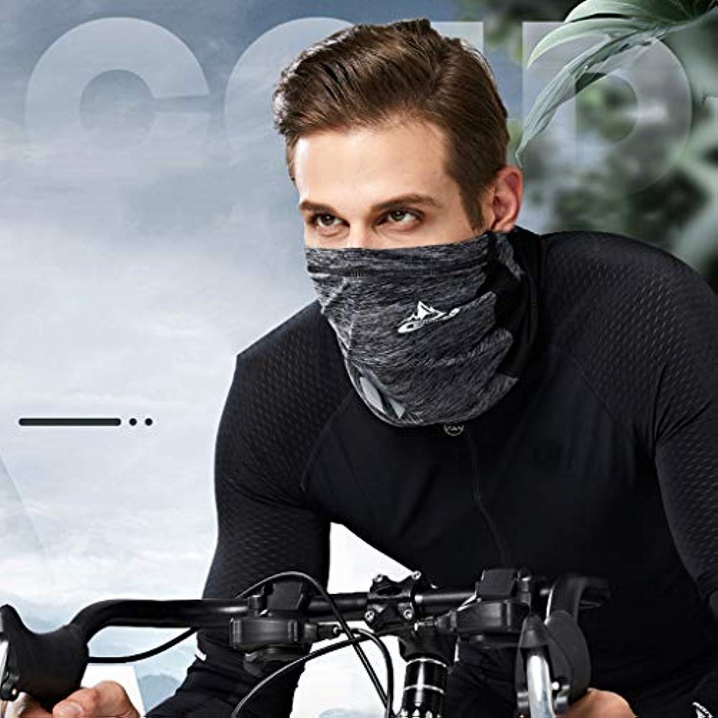 フライト彼女自身蜂オートバイのネックマスク、ユニセックスアウトドアバンダナフェイススポーツフェイスシールドスリーブネックゲーター防塵防風サンプロテクションマスク (Color : Gray)