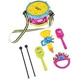 Baoblaze 5本セット キッズ ドラム 打楽器 ハンドベル おもちゃん 楽器玩具 音楽おもちゃ