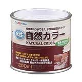 アトムハウスペイント 水性自然カラー(天然油脂ステイン) 200ML ミディアムオークの写真