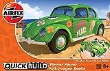 エアフィックス クイックビルドシリーズ VWビートル フラワーパワー ノンスケール 塗装済みブロック式組み立てキット QB0031