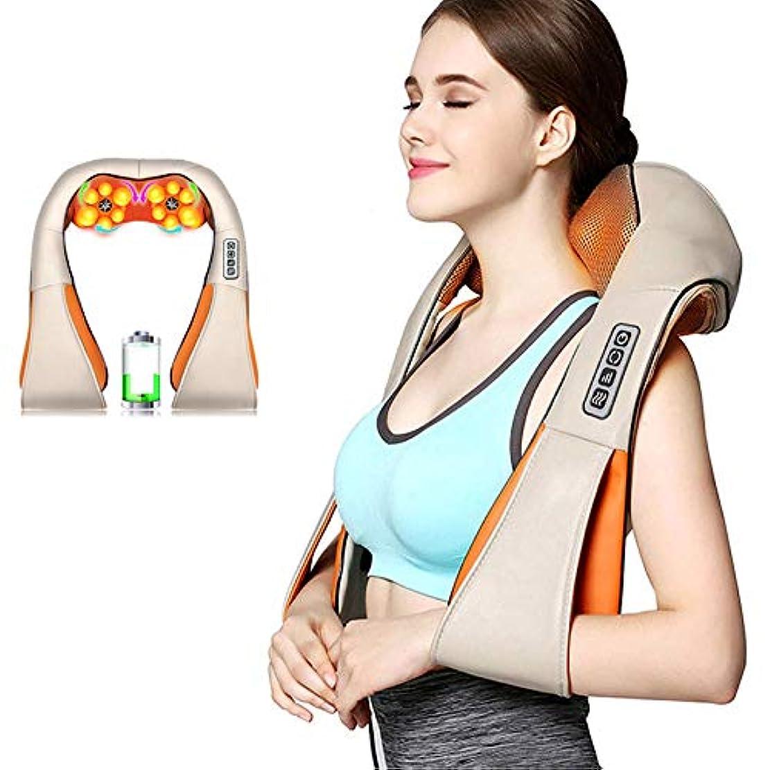 モンク未接続希望に満ちた指圧肩マッサージャー電動背中マッサージ、首、背中、肩、足、足、体の筋肉の痛みの緩和