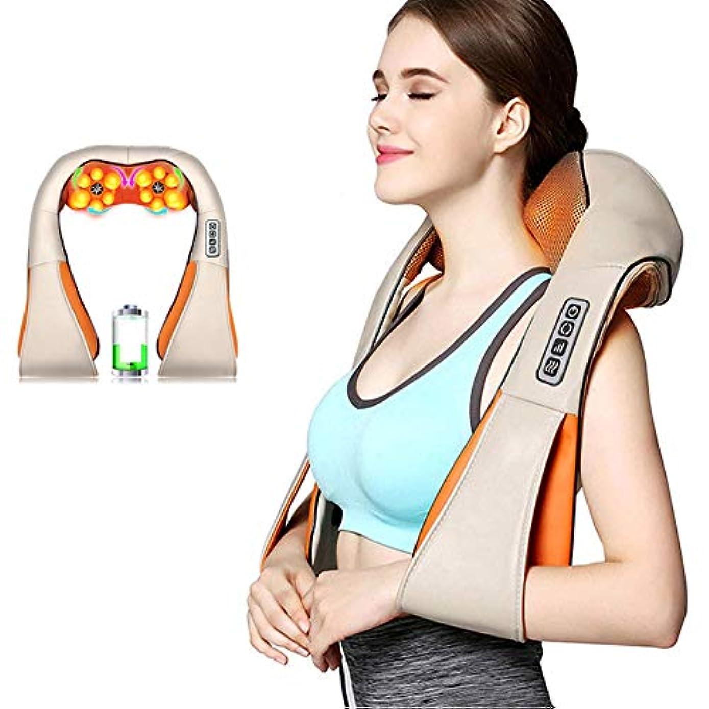 毛布軍団州指圧肩マッサージャー電動背中マッサージ、首、背中、肩、足、足、体の筋肉の痛みの緩和