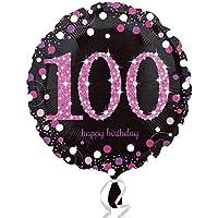 (アムスキャン) Amscan お誕生日おめでとう Happy Birthday アルミ風船 パーティー バルーン (18-100歳) (ワンサイズ) (100)