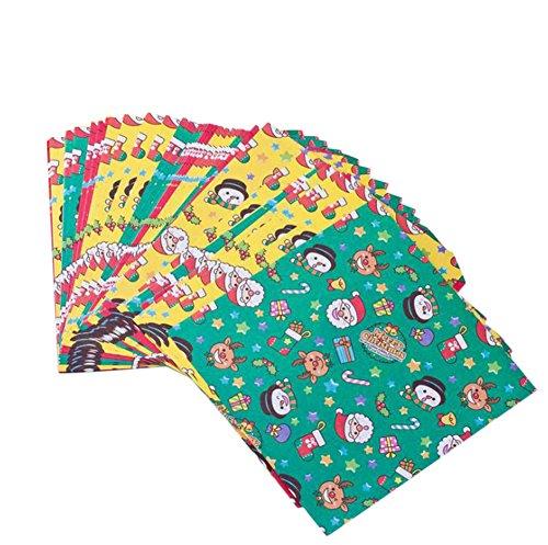 Doitsa 折り紙 子供 手作り DIY クリスマス折り紙 色紙 幼稚園 千羽鶴用 3柄 270枚 (赤 黄 緑)14.5*14.5cm