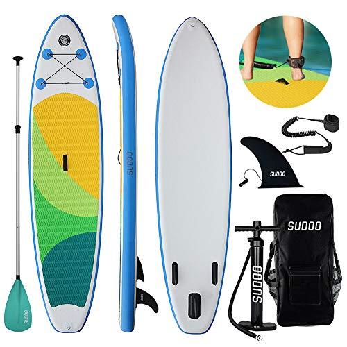 SUPインフレータブル スタンドアップパドルボード-LEAGUE&CO積載重量140-160kg安定性抜群 滑り止め ヨガ 釣り マリンスポーツ 海 (TIT)