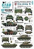 スターデカール 1/35 現用 バルカン半島 クロアチア陸軍 5 クロアチアの装甲車と戦車 1991-93年 プラモデル用デカール SD35-C1240