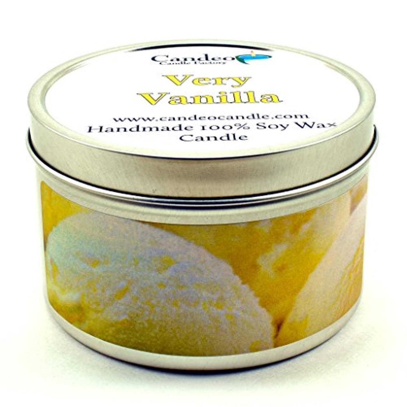 卑しい伝える石のVeryバニラ、スーパー香りつきSoy Candle Tin 6oz 5500