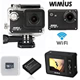 WIMIUS Wifi  12MP フルHD ビデオカメラ 防水 操作簡易