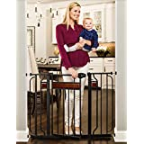 Regalo Home Accents 43-Inch Extra Wide Walk Thru Baby Gate, Includes Décor Hardwood, 6-Inch Extension Kit, 4-Inch Extension Kit, 4 Pack of Pressure Mount Kit and 4 Pack of Wall Mount Kit