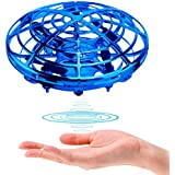 BlueFire Mini Drone for Kids Hand-Controlled Flying Ball Portable Pocket Quadcopter with 360°Rotating and Shinning LED Lights UFO Toy Intelligence Sensor Aircraft Flying Toy for Boys Girls and Kids Gifts