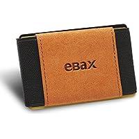 Ebax Minimalist Slim Wallet For Men Women - Elastic Front Pocket Credit Card Holder Wallet (Sepia)