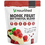 So Nourished Granular Monk Fruit Sweetener with Erythritol (2.27 kg / 5 lb) - Perfect for Diabetics and Low Carb Dieters - 1:1 Sugar Replacement - No Calorie Sweetener, Non-GMO, Natural Sugar Substitute (5 Pounds)