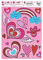 Valentine Window Clings Groovy Hearts [並行輸入品]