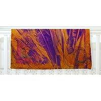 KESS InHouse Malia Shields Together Purple Orange Fleece Baby Blanket 40 x 30 [並行輸入品]