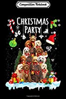 Composition Notebook: Australian Labradoodle Christmas Party Funny Xmas dog  Journal/Notebook Blank Lined Ruled 6x9 100 Pages