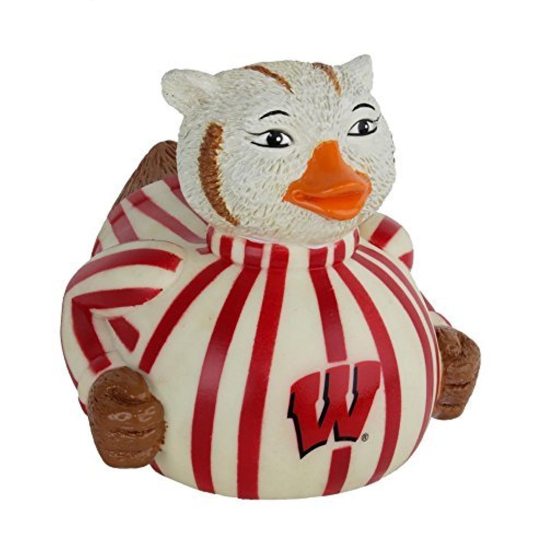 CelebriDucks Bucky Badger University of Wisconsin Madison Mascot Bath Toy by CelebriDucks [並行輸入品]