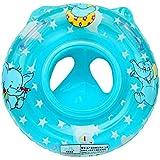 Cloudkids 赤ちゃん 浮き輪 足入れ式 ボート 幼児 スイムリング フロート お風呂 プール 子供用 水遊び 水泳用品 可愛い 動物図案 ブルー