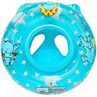 (ラボーグ)La vogue ベビーボート 幼児 子供用 浮き輪 足入れ 可愛い 水泳用品 ハンドル付 動物柄 プール 水遊び (ブルー)