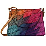 Snoogg Vector Abstract Hand Drawn Waves Texture Womens Carry Around Sling Bags