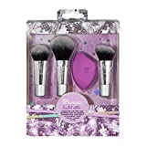Real Techniques Sparkle On-The-Go Makeup Brush Gift Set with Beauty Blender Sponge, Holiday Stocking Stuffer, Travel Size