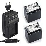 Newmowa bn-vg138(デコード)バッテリー( 2- Pack )と充電器キットfor JVC BN vg138、JVC Everio gz-e10、gz-e100、gz-e200、gz-e300、gz-e505、gz-ex210、gz-ex215、gz-ex250、gz-ex310、gz-ex355、gz-ex515、gz-ex555、gz-gx1、gz-hd500、gz-hd520、gz-hd620、gz-hm30、gz-hm50、gz-hm300、gz-hm320、gz-hm340、gz-hm440、gz-hm450、gz-hm550、gz-hm650、gz-hm670、gz-hm690、gz-hm860、gz-hm960、gz-mg750、gz-ms110、gz-ms230、gz-ms250デジタルビデオカメラ