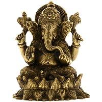 真鍮彫刻ガネーシャIdol Hindu Figurineインドから5.5インチ