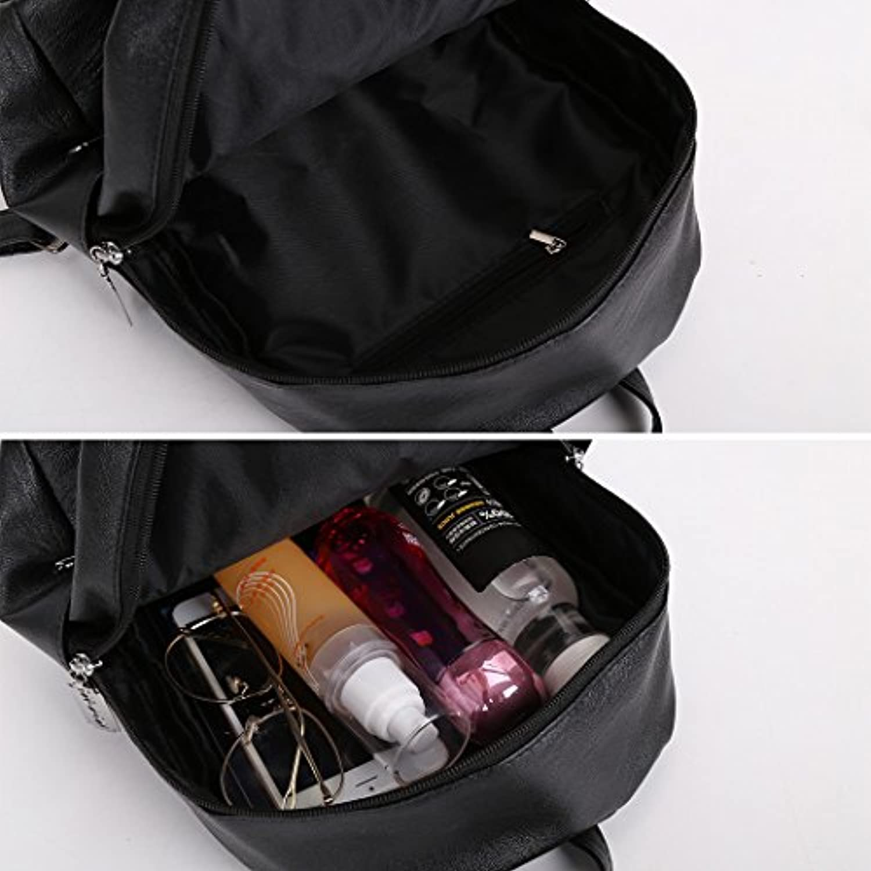 MIOIM マザーズバッグ PU レザーバッグ レディース ハンドバッグ おしゃれ 多機能大容量 シンプル (ブラック)