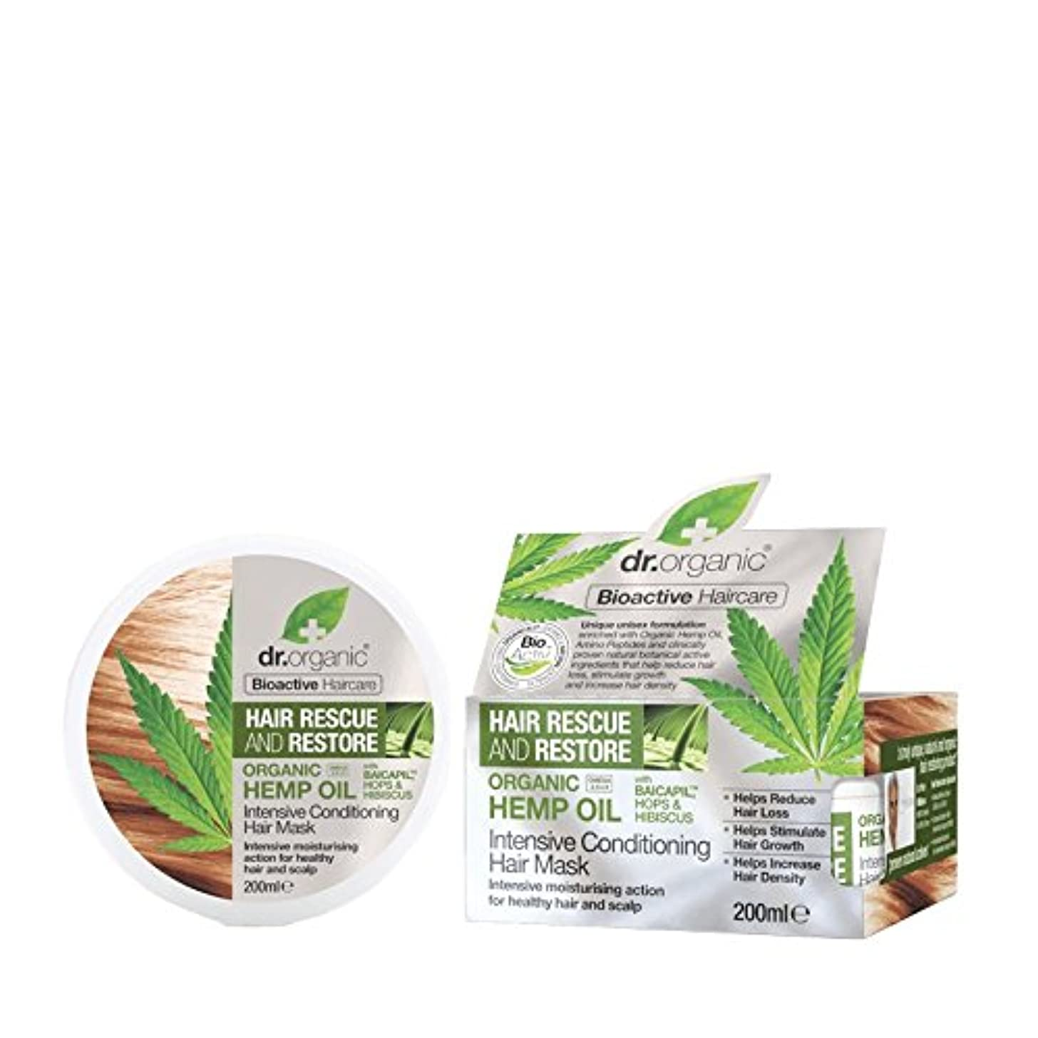 ヘルパースロット回るDr有機大麻油の集中コンディショナー200ミリリットル - Dr Organic Hemp Oil Intensive Conditioner 200ml (Dr Organic) [並行輸入品]