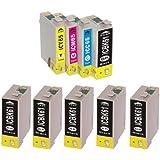 IC4CL6165 +61BK5個 ICチップ付き 残量表示可能 高品質 個別包装 EPSON 互換インク 対応機種:PX-1200 PX-1200C3 PX-1200C9 PX-1600F PX-1600FC3 PX-1600FC9 PX-1700F PX-1700FC3 PX-1700FC9 PX-673F (1パック(4色)+61BK5個) ZAZ FFPパッケージ (ZC)