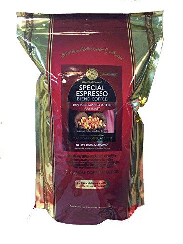 スペシャル エスプレッソ ブレンド 2.2lb( 1Kg )【 粉 】 100% アラビカ コーヒー クラシカルコーヒーロースター