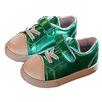 [XINXIKEJI キッズ シューズ キャンバスシューズ 子供靴 スリッポン スニーカー 13.5~18㎝ 紐なし デッキシューズ 一人でさっと 履きやすい 歩きやすい おしゃれ 通園 通学 日常履き プレゼント グリーン 15.5cm