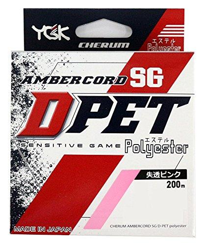 チェルム アンバーコード SG D-PET 200m 0.3号 1.6Lb パステルピンク