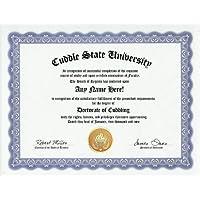 Cuddle Cuddling Degree: Custom Gag Diploma Cuddler Doctorate Certificate (Funny Customized Joke Gift - Novelty Item) by GD Novelty Items [並行輸入品]