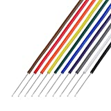 協和ハーモネット 耐熱通信機器用ビニル電線 茶赤橙黄緑青紫灰白黒 各2m H-PVC 0.65mm 2m <10>