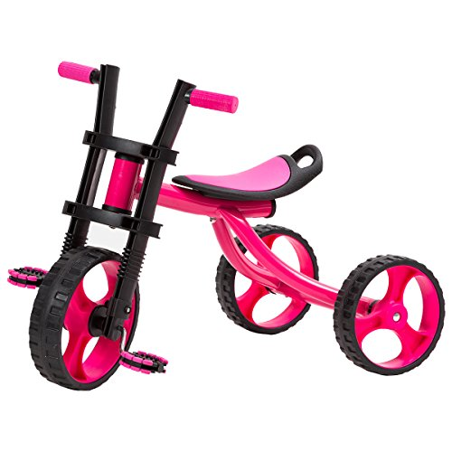 【子どもが自分で動かして遊べる 安定感にこだわった三輪車 (...