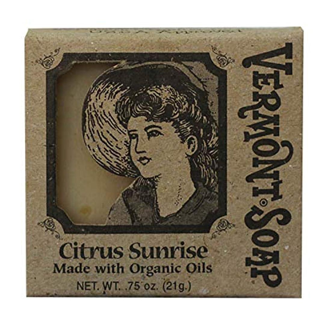 コインエスカレーターテザーバーモントソープ トラベル用 (シトラスサンライズ) オーガニック石鹸 洗顔 21g
