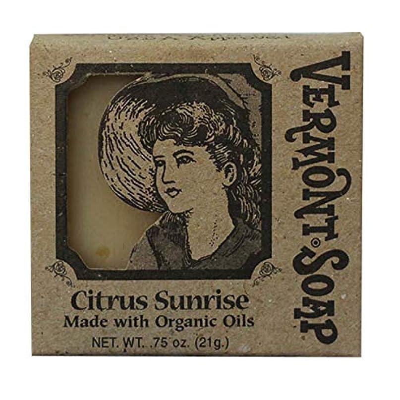 反響する性能ノベルティバーモントソープ トラベル用 (シトラスサンライズ) オーガニック石鹸 洗顔 21g