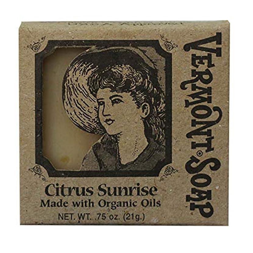 感情吸う送信するバーモントソープ トラベル用 (シトラスサンライズ) オーガニック石鹸 洗顔 21g