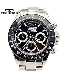 テクノス メンズ腕時計 クロノグラフ ブラックダイヤル 工具&ゲルマブレスセット TSM401TB-KBSET [正規品]