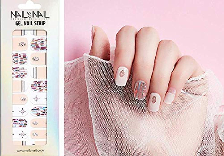 淡い極小重要な役割を果たす、中心的な手段となる\貼るジェルネイル/Nail's Nail(ネイルスネイル) ジェルネイルストリップ 105