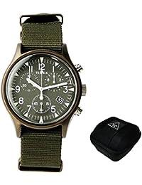 タイメックス TIMEX 腕時計 MK1 ALUMINUM TW2R67800 クロノグラフ ナイロン オリーブ (ケース付き)