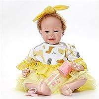 リボーンドール素敵な赤ちゃんおもちゃのシリコーンギフト新生児早期教育赤ちゃん就学前の子供の贈り物子供のおもちゃのおもちゃの誕生日のクリスマスプレゼント , C