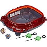 BEYBLADE Burst Turbo - SLINGSHOCK Rail Rush Battle Set inc Stadium, 2 Right Spin Battle Tops & Launchers - Kids Toys - Ages 8+