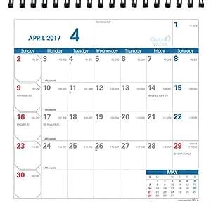 クオバディス 2017年 カレンダー 卓上 コンパクトプランナー ホワイト qv238300