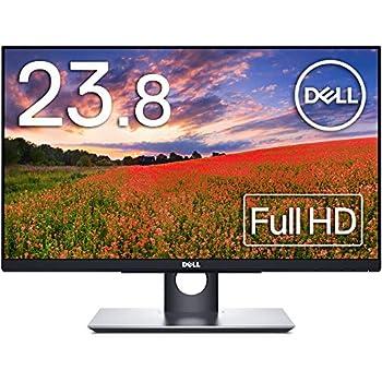 Dell タッチ対応モニター 23.8インチ 広視野角 フレームレス フルHD IPS非光沢 DP,HDMI,D-Sub15ピン 高さ調整 3年間輝点+交換保証付 P2418HT