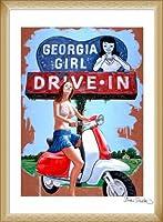 ポスター ジェイソン スティルマン Georgia Girl (Drive-In) 額装品 ウッドベーシックフレーム(ナチュラル)