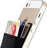 Sinjimoru Card Holder For Back Of Phone, Stick On Wallet Functioning As Credit Card Holder, Phone Wallet And I