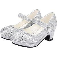 PPXID Toddler Little Girl's Princess Glitter Performance Dance Shoes High Heel Pumps