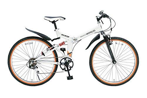 My Pallas(マイパラス) 折りたたみ自転車 ATB M-670-W 26インチ 6段変速 Wサス ホワイト